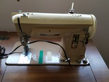 Vintage Singer 404 Sewing Machine Heavy Duty Steel Gears + Attachments in Wheaton, Illinois