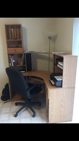 computer desk and chair in Fort Riley, Kansas