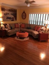 New Complete Living Room Set  Sectional, lamps, side tables, rug, ottoman in Quantico, Virginia