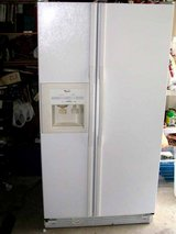 REFRIGERATOR-GE SIDE BY SIDE Large Size  White REF-Water and  ice in door in Macon, Georgia