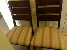 Set of Four Rustic Real Wood Dining Chairs in Okinawa, Japan