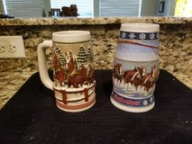 Collectable Holiday Budweiser Steins in DeRidder, Louisiana