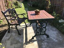 Cast iron chair and table set in Lakenheath, UK