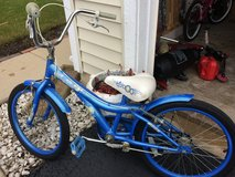 Blue Huffy bike in Yorkville, Illinois