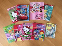 Free!  Bag of children's activity, coloring books, Minnie Mouse Folder, Funny Lunch Book in Oswego, Illinois