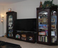 Cabinets and t.v. stand. German style. Cherry wood in Columbia, South Carolina