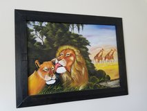Lion painting in Columbia, South Carolina