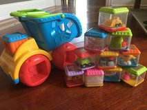 Fisher price peek a boo blocks and dump truck in Orland Park, Illinois
