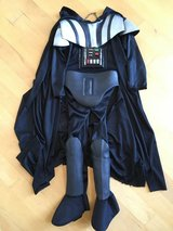 Darth Vader kids' Costume - mask not included - size small - about 4 to 7 yr old by Rubie's in Shorewood, Illinois