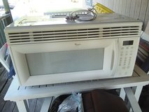 Microwave over the stove in Fort Leonard Wood, Missouri