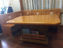 3 Piece Bench set and table, excellent condition in Okinawa, Japan
