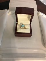 Aquamarine ring made by specialty Jeweler in Beaufort, South Carolina
