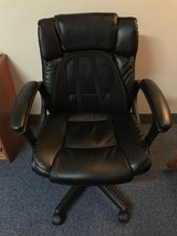 Black Leather Office Chair in Okinawa, Japan