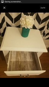 Solid wood white night stand in Fort Belvoir, Virginia