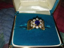 diamond/blue sapphire ring in Alamogordo, New Mexico