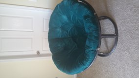Teal papasan chair in Fort Bragg, North Carolina