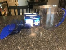 Brita water pitcher with 4 brand new filters in Leesville, Louisiana