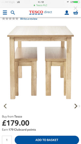Table & benches new in Lakenheath, UK