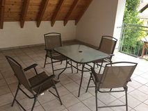 patio set with 4 chairs in Ramstein, Germany