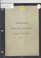 Cleveland Grover N.Y. Electoral 16 pg College report on the 1892 Presidential Election in Spangdahlem, Germany