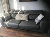 Grey leather couch in Stuttgart, GE