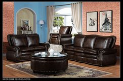FARGO - New Item - Sofa + Loveseat + Chair - dark brown  Including Delivery Belgium in Shape, Belgium
