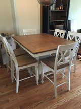 Pub height table and 6 chairs in New Lenox, Illinois
