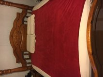 Four Post wooden bed frame with Memory Form Mattress in Conroe, Texas