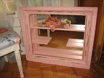 vintage girdle pink shabby chic  shadow box mirror in Wheaton, Illinois