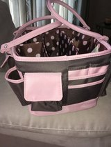 Arts and Craft Open Top Tote with Handles Brown and Pink - lots of space! in Naperville, Illinois
