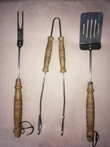 Grilling Set - 3 Piece Fork, Tongs, Spatula in Joliet, Illinois