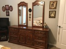 Bedroom suite, Thomasville: triple dresser, mirrors, armoire and 2 night tables in Cherry Point, North Carolina