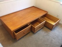 Hand Made Wood XL Twin Bed w/drawers in Fairfield, California