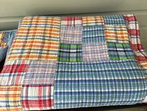 POTTERY BARN KIDS Quilt and Sham - Multi-Colored Madras, Twin Size in St. Charles, Illinois