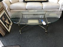 Glass top coffee table in Naperville, Illinois