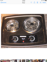 Two burner electric stove in Yorkville, Illinois