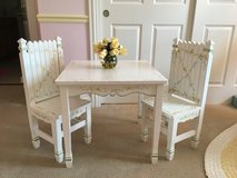 Flower / Garden Mini Wooden Table and 2 Matching Chairs in Aurora, Illinois