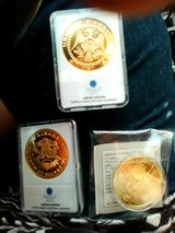 Coin Collectors look or buy for kids! 3 set coins layered in 24k gold in Fort Campbell, Kentucky