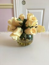 Faux Flowers in Vase - Yellow Roses in Westmont, Illinois
