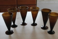 Amber Glass Parfay Glasses (All for one money) REDUCED! in Alamogordo, New Mexico