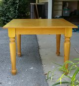 """Kitchen or Accent Table Farmhouse Blonde Wood 36"""" Square in Aurora, Illinois"""