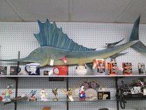 Sailfish wall art in Cherry Point, North Carolina