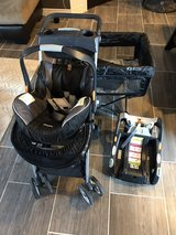 baby car seat w/ 2 x base , caddy and portable crib in Fort Bliss, Texas