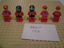 5 Lego Racers Minifigs Group 172 in Sandwich, Illinois