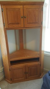 Solid Oak Mission Style Corner TV unit in Fort Leonard Wood, Missouri