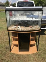 46 gallon bow front tank and stand in Warner Robins, Georgia