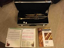 Holton Trumpet and Case + book and sheet music in Bolingbrook, Illinois