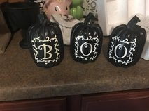 BOO pumpkins in Fort Leonard Wood, Missouri