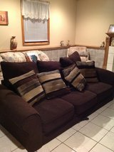 Brown couch in Yorkville, Illinois