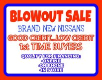 *** BLOWOUT SALE.....BRAND NEW NISSANs.....QUALIFY ONLINE or ON PHONE *** in Hinesville, Georgia
